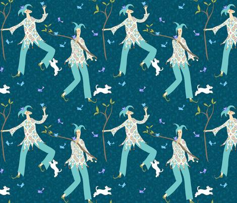 The fool fabric by vo_aka_virginiao on Spoonflower - custom fabric