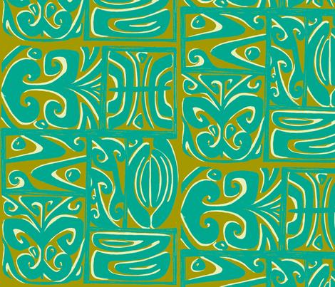 absractiva 2 ,Honolulu market. tidepool fabric by sophista-tiki_by_dawn_frasier on Spoonflower - custom fabric