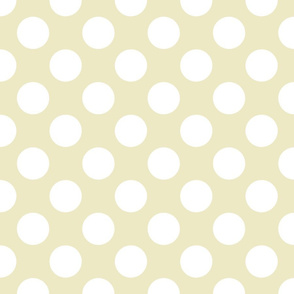 White on Cream Large Dot