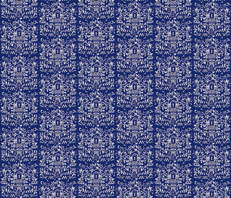 Rococo Blue fabric by jadegordon on Spoonflower - custom fabric