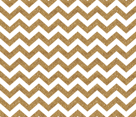 Glitter Chevron Gold fabric by cynthiafrenette on Spoonflower - custom fabric