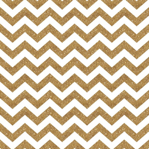 Glitter Chevron Gold