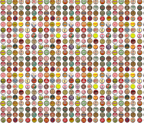 Soda Bottle Caps fabric by shelly_1 on Spoonflower - custom fabric