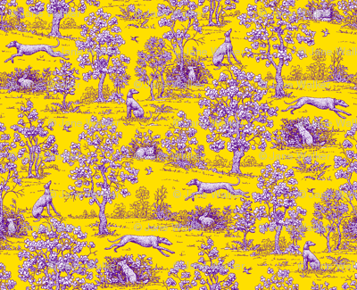 Yellow and Purple Greyhound Toile ©2011 by Jane Walker