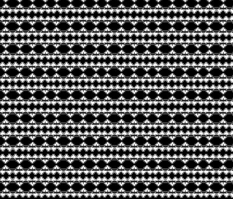 native navajo_design_black & white fabric by mallennium on Spoonflower - custom fabric