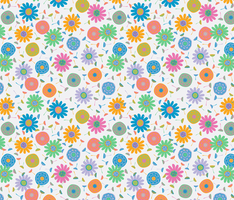 Flower Shower Light fabric by gracedesign on Spoonflower - custom fabric