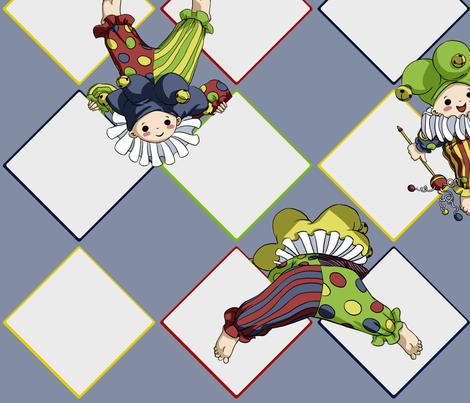 Happy Jesters fabric by fuzzyskyfabric on Spoonflower - custom fabric