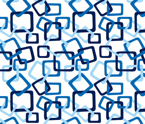 Links: Blue fabric by modgeek on Spoonflower - custom fabric