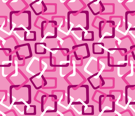 Links: Double Pink fabric by modgeek on Spoonflower - custom fabric