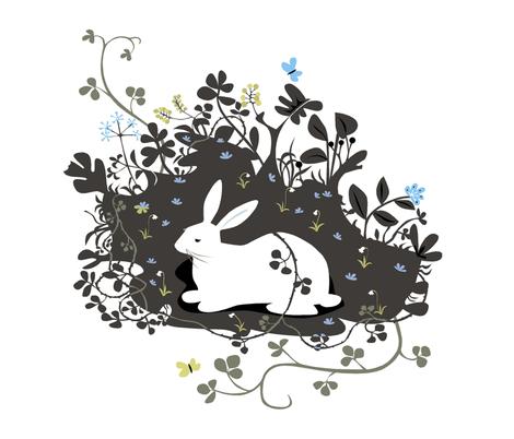 large_rabbit fabric by antoniamanda on Spoonflower - custom fabric