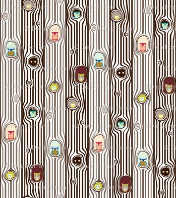 ABC Baby Coordinate - Owl Tree Stripe, color