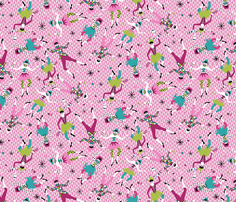 jumping jesters fabric by minimiel on Spoonflower - custom fabric