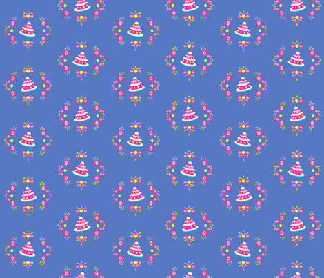Let them eat cake | blue fabric by irrimiri on Spoonflower - custom fabric