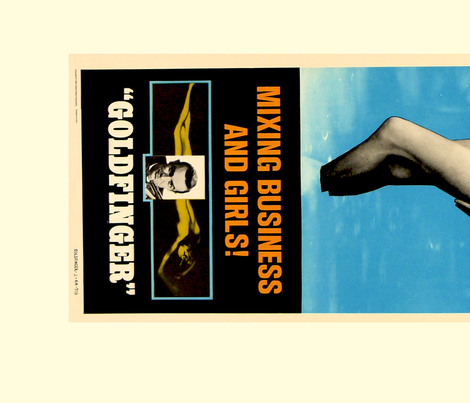 Goldfinger Movie Posters 1 and 2 fabric by luma on Spoonflower - custom fabric