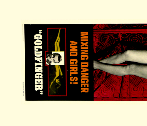 Goldfinger Movie Posters 3 and 4 fabric by luma on Spoonflower - custom fabric