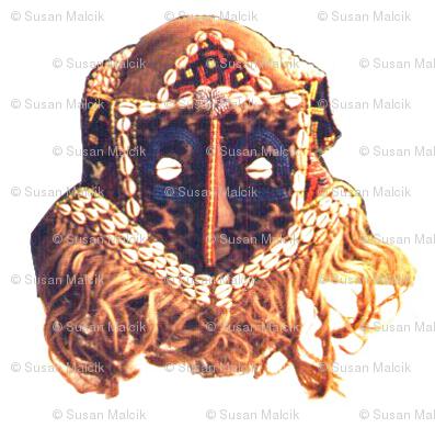 Royal Bakuba Female Mask
