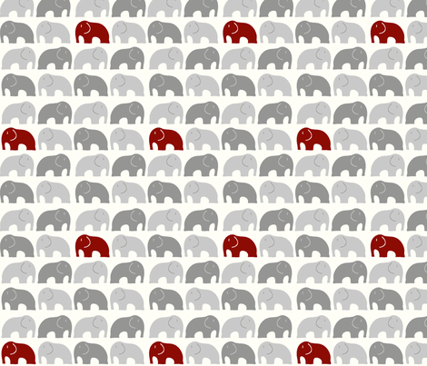 Whimsical elephant fabric by theprocrastinatrix on Spoonflower - custom fabric
