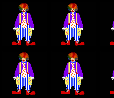 "Crayon the Clown 18"" fabric by paragonstudios on Spoonflower - custom fabric"