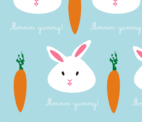 rabbits fabric by croquemadame on Spoonflower - custom fabric