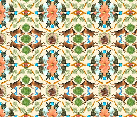 RabbitLand fabric by tallulahdahling on Spoonflower - custom fabric