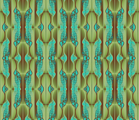 Leaf mod fabric by nalo_hopkinson on Spoonflower - custom fabric