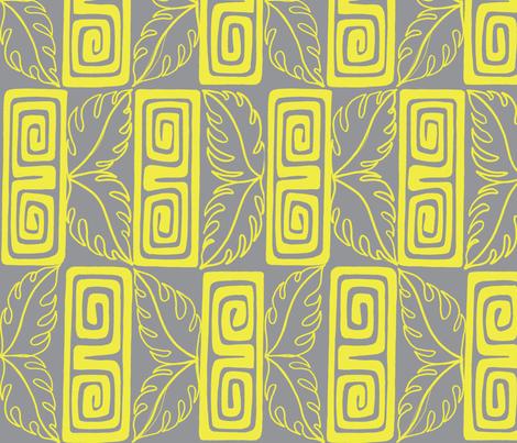 bora Bora intercontinental guest, grey fabric by sophista-tiki_by_dawn_frasier on Spoonflower - custom fabric