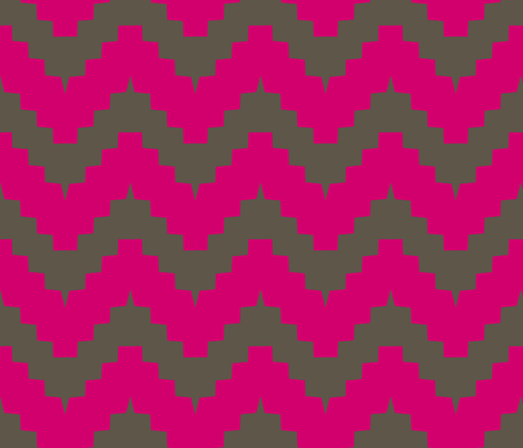 large scale chevron - pink and brown fabric by ravynka on Spoonflower - custom fabric