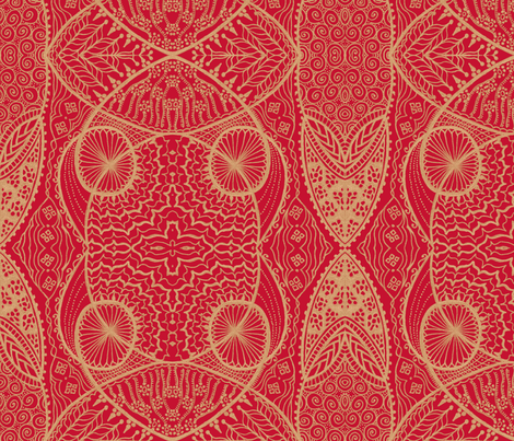 Happy_Anniversary_red fabric by oodleardle on Spoonflower - custom fabric