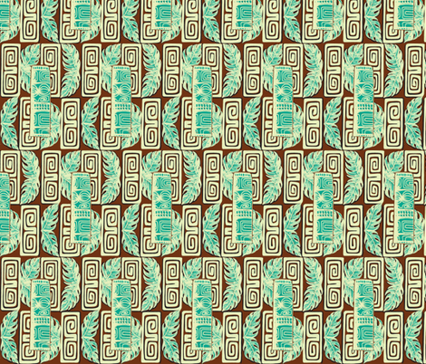 Bora Bora Intercontinenrtal staff, frosted coco fabric by sophista-tiki_by_dawn_frasier on Spoonflower - custom fabric