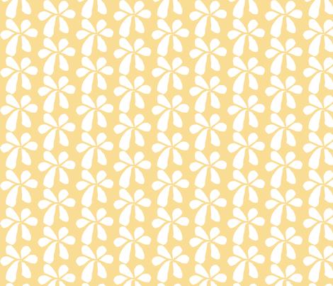 Yellow Flowers fabric by renewfabrics on Spoonflower - custom fabric