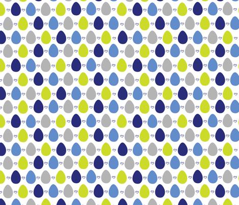 BlueBird-eggs fabric by abby_zweifel on Spoonflower - custom fabric