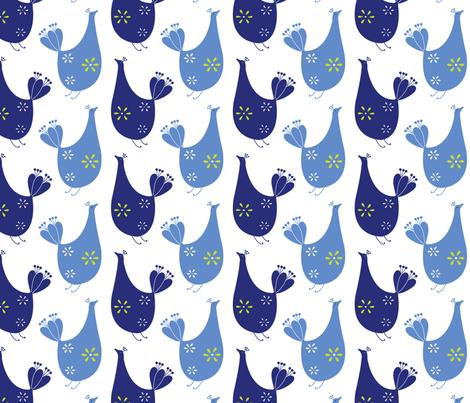 BlueBird-tweeters fabric by abby_zweifel on Spoonflower - custom fabric