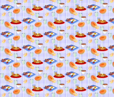 ©2011 breakfast fabric by glimmericks on Spoonflower - custom fabric