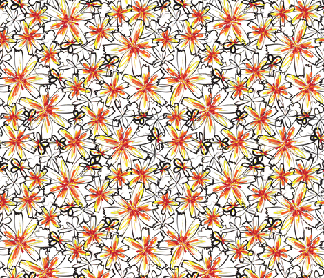 Sketchy Flowers fabric by robyriker on Spoonflower - custom fabric
