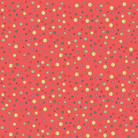 Joy Dots - redish fabric by catru on Spoonflower - custom fabric