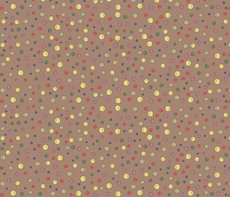 Joy Dots - brown fabric by catru on Spoonflower - custom fabric
