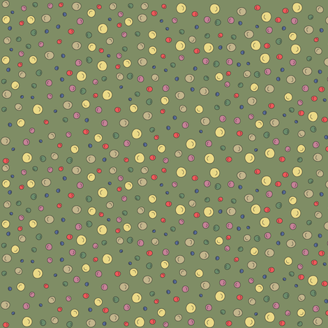 Joy Dots - green fabric by catru on Spoonflower - custom fabric