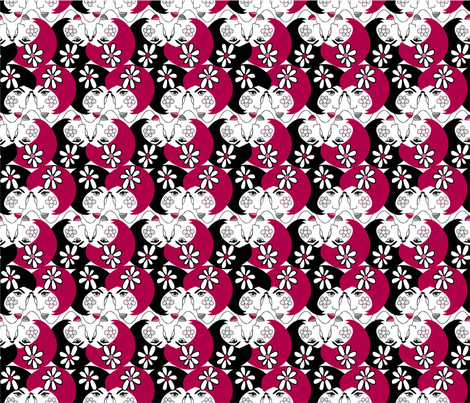 Flower_ Girl_pink fabric by peppermintpatty on Spoonflower - custom fabric