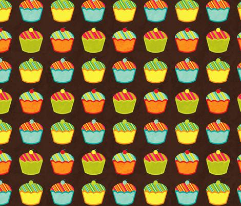 Cupcakes fabric by jennartdesigns on Spoonflower - custom fabric