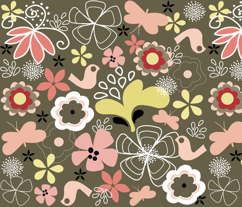 happiness fabric by emilyb123 on Spoonflower - custom fabric