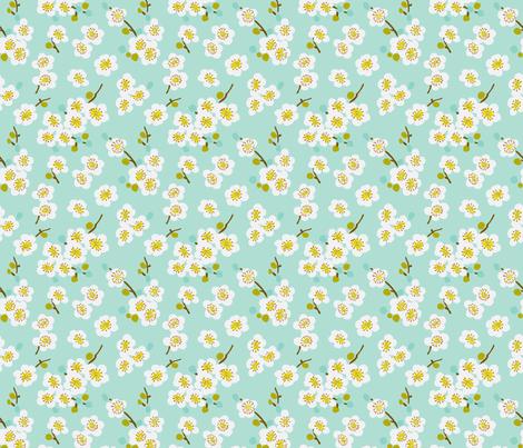 pear blossom fabric by littlerhodydesign on Spoonflower - custom fabric