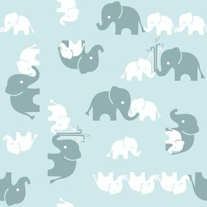 ABC Baby Coordinate - Elephant, scattered blue