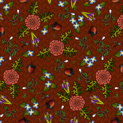 ©2011 my kitchen table cherry fabric by glimmericks on Spoonflower - custom fabric