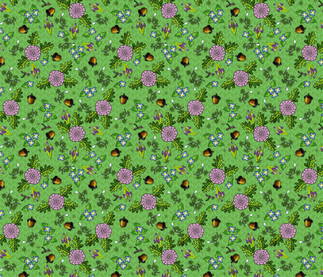 ©2011 my kitchen table green fabric by glimmericks on Spoonflower - custom fabric