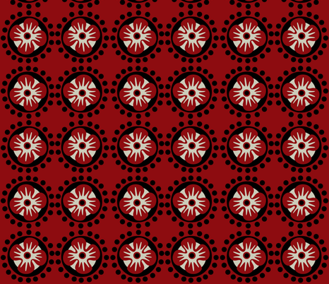 bloom / red fabric by paragonstudios on Spoonflower - custom fabric