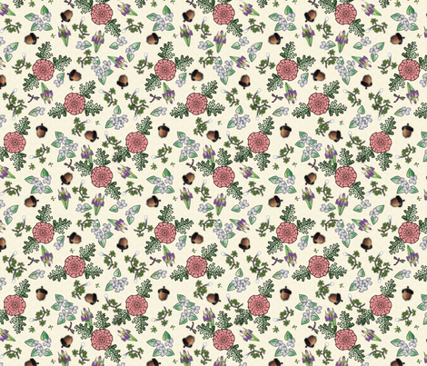 ©2011 my kitchen table cream fabric by glimmericks on Spoonflower - custom fabric