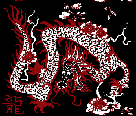 White Dragon fabric by paragonstudios on Spoonflower - custom fabric