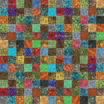 Mini Batik Cheater Quilt