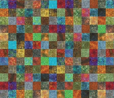Mini Batik Cheater Quilt fabric by pixeldust on Spoonflower - custom fabric