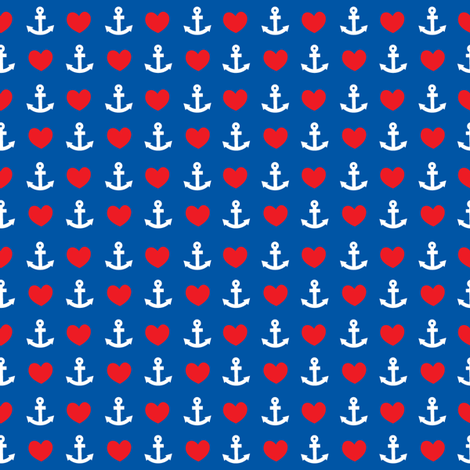 heartandanchor fabric by thecuteinstitute on Spoonflower - custom fabric